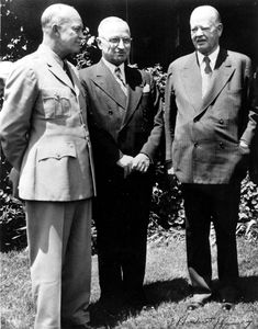 Dwight Eisenhower, Harry Truman, and Herbert Hoover