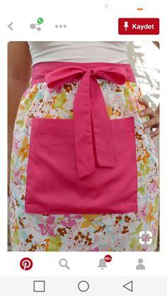 Retro Apron, Aprons Vintage, Teacher Apron, Sewing Aprons, Denim Aprons, Cute Aprons, Half Apron, Apron Pockets, Sewing Class