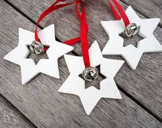 Christmas Star with Bell Ornament Set of 3, Christmas Tree Decoration, Christmas Tree Ornament, Christmas Star Tree Decoration