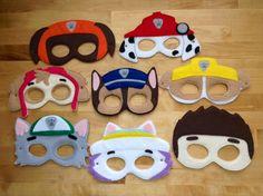 Paw Patrol Felt Mask Marshall by HappyTimeCrafts on Etsy