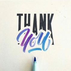 Lettering Works 2016 on Behance Thank You Typography, Watercolor Lettering, Calligraphy Handwriting, Hand Lettering Quotes, Creative Lettering, Calligraphy Letters, Typography Letters, Brush Lettering, Lettering Design