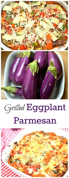 A lightened up version of traditional Eggplant parmesan with ALL the flavor!!