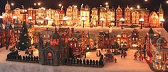 christmas village displays | Scroll to the right and see more. Click on any part of the picture and ...