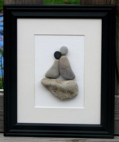 Beach Pebble Art Stone Pictures Up Up and by PumpkinandParsnip