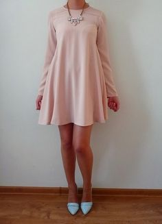 Kup mój przedmiot na #vintedpl http://www.vinted.pl/damska-odziez/krotkie-sukienki/10600808-zara-nowa-sukienka-xs-34-brzoskwiniowa-pudrowy-jasny-roz-rozkloszowana-elegancka-sliczna-pastelove