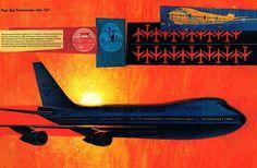 Vintage Travel, Vintage Airline, Airplane Flying