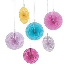 Flamingo Hanging Fans - OrientalTrading.com