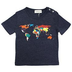 Simple Kids Navy World Tee #ladida #ladidakids #simplekids