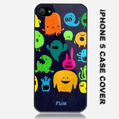Funny Monster Cartoon Whiners Custom iPhone 5 Case Cover. $16.99, via Etsy.