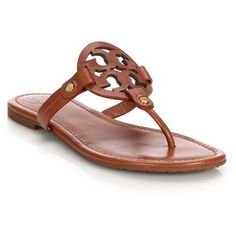 Tory Burch Miller Leather Cut-Out Sandals