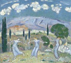Greece Painting, Triple Goddess, Painter Artist, 10 Picture, Greek Art, Blue Art, Conceptual Art, Impressionist, Printmaking