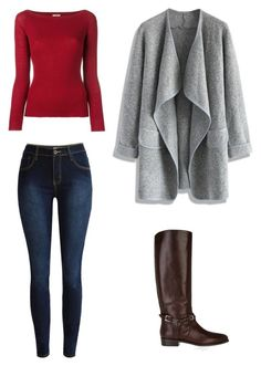 """Fall Outfit 2016, #1"" by mitchieanne21 on Polyvore featuring Nude, Chicwish and Burberry"