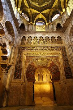 The Great Masjid of Cordoba - In Moorish Spain Islamic Architecture, Beautiful Architecture, Art And Architecture, Islamic World, Islamic Art, Cordoba Andalucia, Andalucia Spain, Magic Places, Beautiful Mosques
