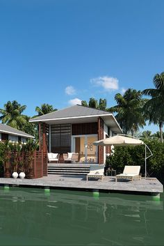 The best address in the world: waterfront. || #luxury #home #resort