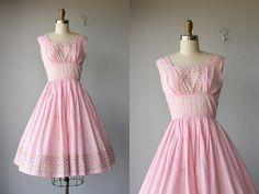 1950s day dress / 50s day dress / by CustardHeartVintage on Etsy, $98.00