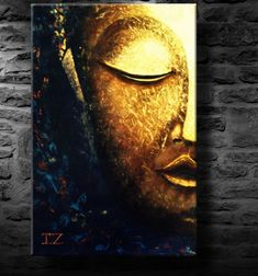 oil painting modern art Glowing Buddha canvas art by Oil Painting Frames, Large Painting, Light Painting, Oil Painting On Canvas, Painting Abstract, Modern Canvas Art, Canvas Wall Art, Modern Art, Your Paintings