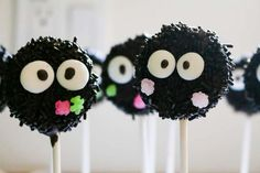Cute cake pops at aTotoro birthday party! See more party ideas at CatchMyParty.com!