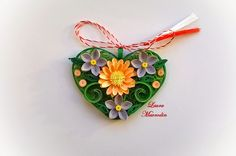 quilling my passion: Martisoare Quilling Work, Quilling Jewelry, Quilling Craft, Quilling Patterns, Quilling Designs, Quilling Ideas, Origami, Quilling Christmas, Christmas Ornaments