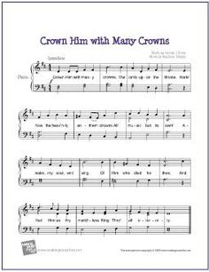 Crown Him with Many Crowns | Free Sheet Music for Easy Piano - http://makingmusicfun.net/htm/f_printit_free_printable_sheet_music/crown-him-piano.htm (Scheduled via TrafficWonker.com)