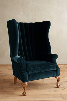 Velvet English Fireside Chair - anthropologie.com