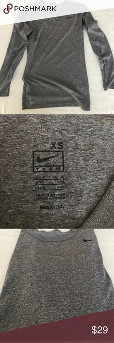 Nike Athletic women's Fit dry. Athletic wear. Nike Athletic women's Fit dry. Athletic wear.  Nice grey tones like new barely worn. No stain no snags. Nike Tops Tees - Long Sleeve