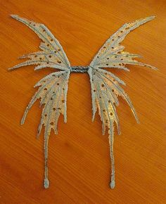 Fairy Wings-Iridescent- Ice Pixie Fairy Wings for Dolls (Made By Request). $28.00, via Etsy.