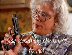 i'm a thug. i shot tupac...i didn't kill him but still...i shot him...BHAHAH OBSESSED with Madea :D Kevin Richardson, Backstreet Boys, The Walking Dead, Funny College Memes, School Memes, Haha, No Kidding, Fraggle Rock, Tyler Perry