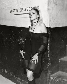 Madonna in Paris, France backstage of fashion show by Jean-Paul Gaultier (1990)