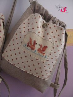 "Backpacks ""Brown dots"""