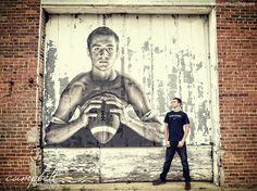 Senior inspiration, senior football, football portraits, football player, composite photo