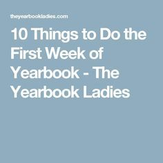 It's a new year, with some new students and a new book. Here are some things to do the first week of yearbook class that are both fun and educational. Lifetouch Yearbook, Jostens Yearbook, Teaching Yearbook, Yearbook Pages, Yearbook Quotes, Yearbook Spreads, Yearbook Covers, Yearbook Layouts, High School Yearbook