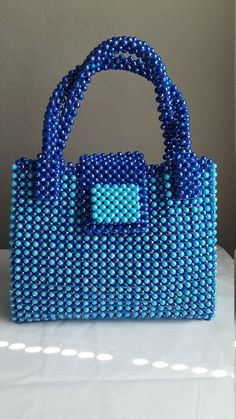 women bead bag A beaded handbag and a carrier .acrylic | Etsy Handmade Fabric Bags, Leather Bags Handmade, Handmade Beads, Handmade Gifts, Straw Handbags, Quilted Handbags, Quilted Bag, Beaded Purses, Beaded Bags