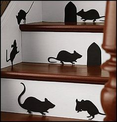 Mice Silhouettes are perfect for Halloween or birthday events