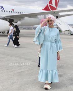 Soon InshaAllah 😍✈️ . . #hijabers #hijabi #hijabdaily #hijabstyle #hijabinspiration #muslim #hijaber #modesty #hijaboutfit #modestfashion… Hijab Fashion Summer, Modest Fashion Hijab, Modern Hijab Fashion, Street Hijab Fashion, Abaya Fashion, Muslim Fashion, Skirt Fashion, Fashion Dresses, Hijab Style Dress