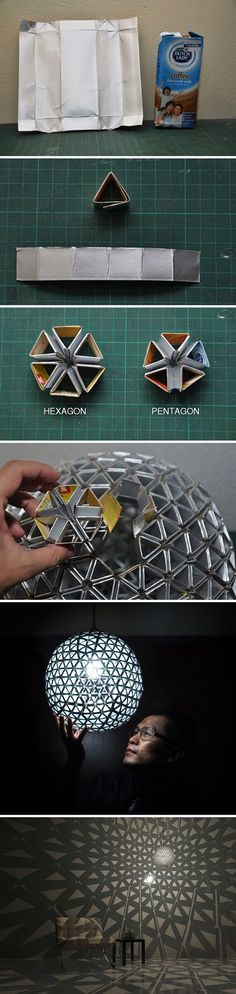 Amazing Lamp Shade Made of Drink Containers
