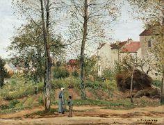 Писсарро Камиль (1830 о-в Сен-Тома (Вест-Индия) - 1903 Париж) - Пейзаж в Лувесьенне (осень) (90х116 см) 1870. Музей Гетти (J. Paul Getty Museum)