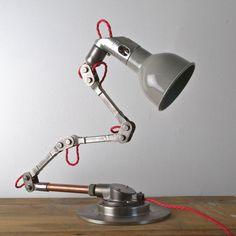 Industrial pendant lights from Artifact Lighting. Vintage designs inc. Vintage Industrial Lighting, Industrial Pendant Lights, Vintage Lamps, Pendant Lighting, Vintage Items, Korean Bar, Roller Design, Lighting Uk, Desk Lamp