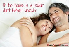 If the house is a rockin' don't bother knockin'. Single people have sex more than married couples, right?  Wrong. #Marriage