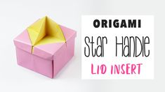 Learn how to make an origami star shaped handle that fits into the origami frame lid! ⭐️ This is super easy to make and adds a cute and unique touch to a sim...
