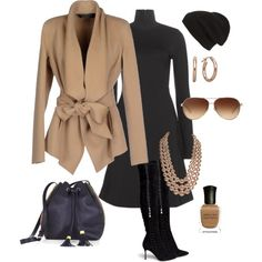 #black & #tan #workwear #citywear by style-inspiration-and-design on Polyvore featuring polyvore, fashion, style, Dorothee Schumacher, Donna Karan, Sergio Rossi, BCBGMAXAZRIA, Chanel, Coach, Phase 3, Deborah Lippmann, WorkWear, black, Tan and citywear