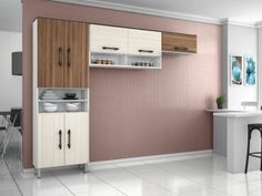 Cozinha Compacta Poliman Móveis Milena - 11 Portas