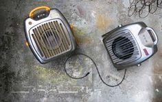 ... zwei ehemaliger Heizlüfter und jetzt ein Lautsprechersystem mit Verstärker für Mp3-Player, Smartphone, ... two old convector ... original from the sixties ... upgecycelt ... now ... speaker with amplifier for your Mp3player, smartphone ... www.urmurks.de