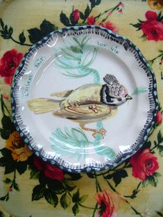 this woman makes lovely plates, now carried by Anthropologie, too