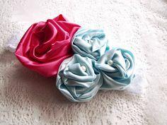 satin rosettes tutorial (to make for flower girl tops & matching headbands)