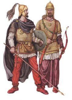 0454 Ostrogoth warrior - Bof Nedao. Los ostrogodos vencen a los hunos y se declaran independientes.
