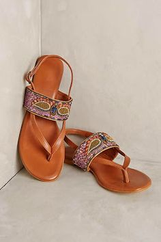 These beaded sandals would go perfect with some beaded bracelets from Eliza Page!