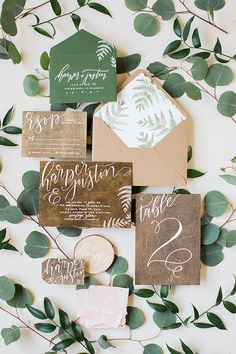 rustic wedding invitations - photo by Booth Photographics http://ruffledblog.com/mossy-glen-elopement-inspiration