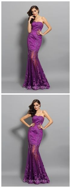 Trumpet/Mermaid Sleeveless Chiffon Sweetheart Applique Beading Floor-Length evening Dresses