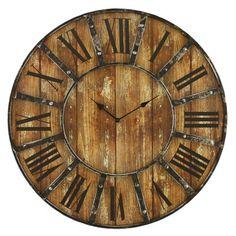 "Loon Peak Oversized 23"" Wall Clock & Reviews | Wayfair"