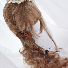 half updo hairstyles Step By Step Half Updo Hairstyles, Kawaii Hairstyles, Dress Hairstyles, Pretty Hairstyles, Manga Hair, Anime Hair, Dress Dior, Chica Dark, Lolita Hair